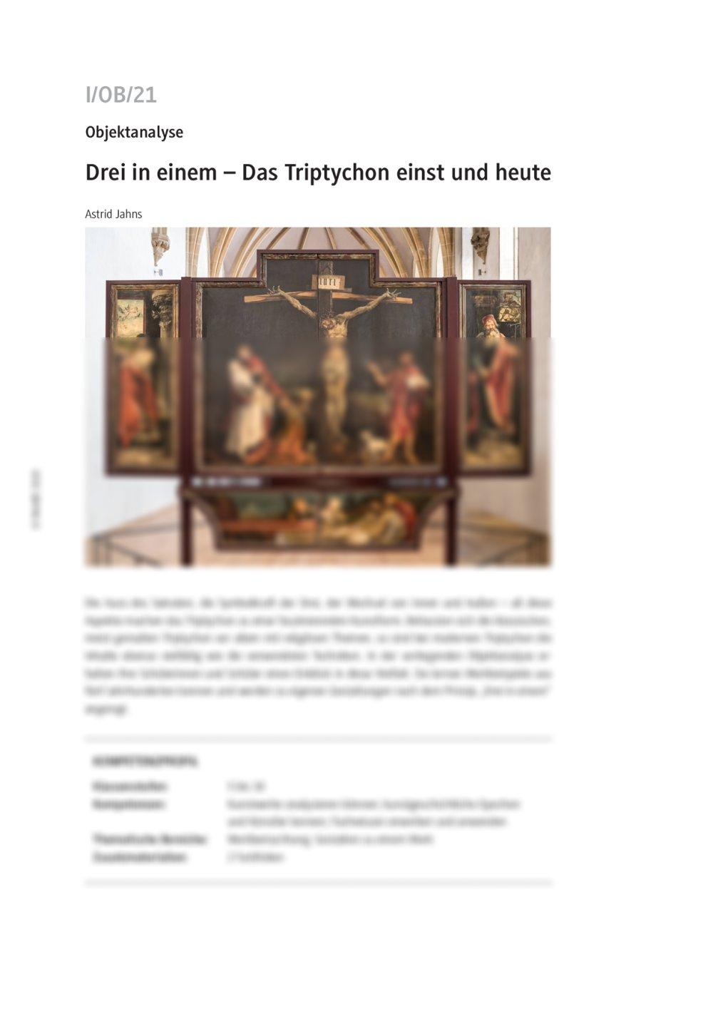 Das Triptychon einst und heute - Seite 1