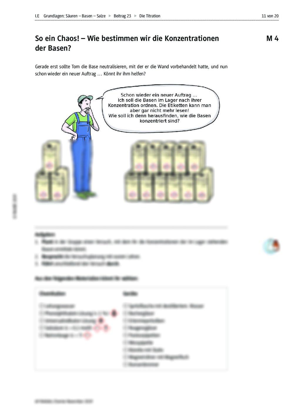 Die Titration – Neutralisationsreaktion zur Bestimmung der ...