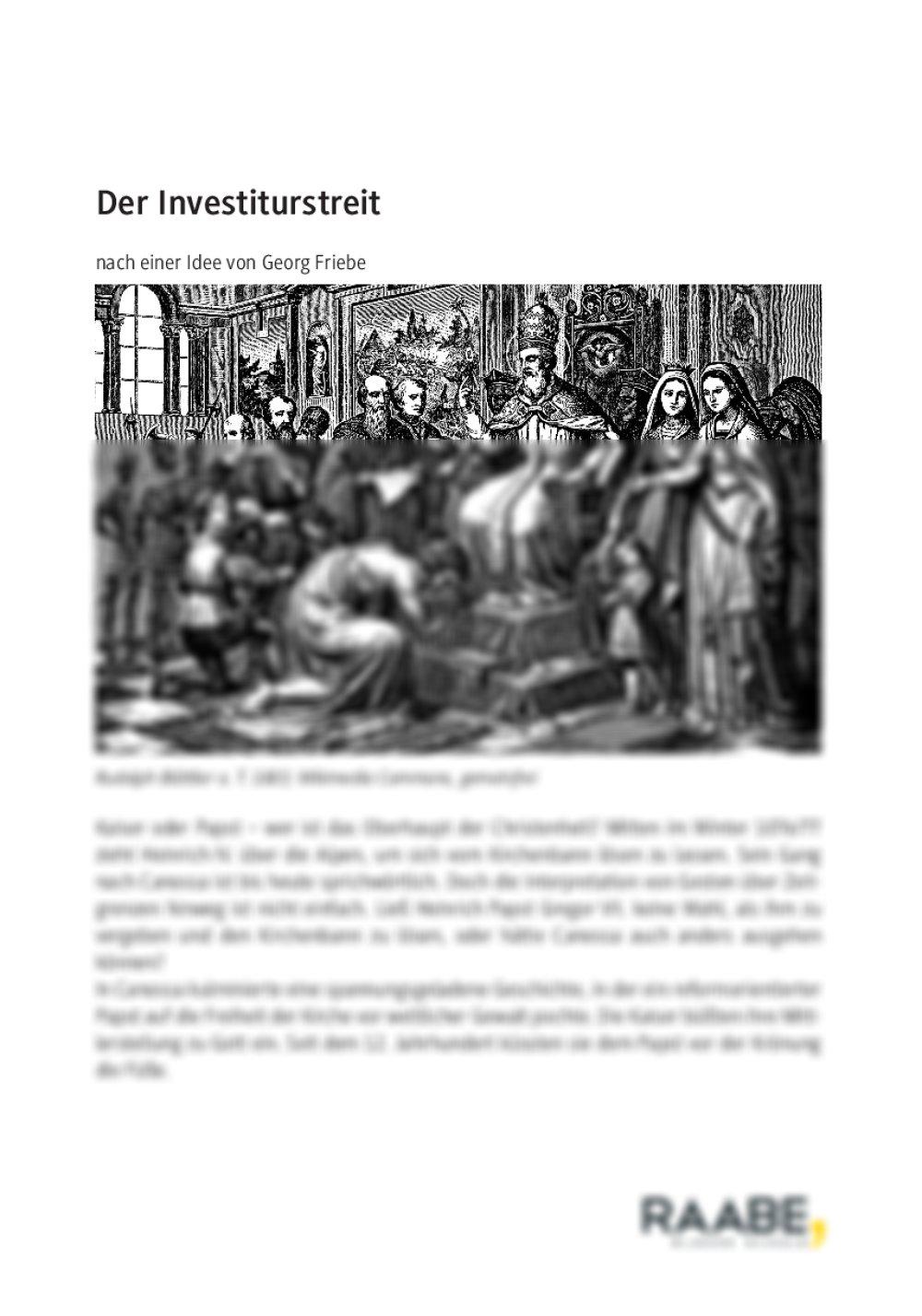 Der Investiturstreit - Seite 1
