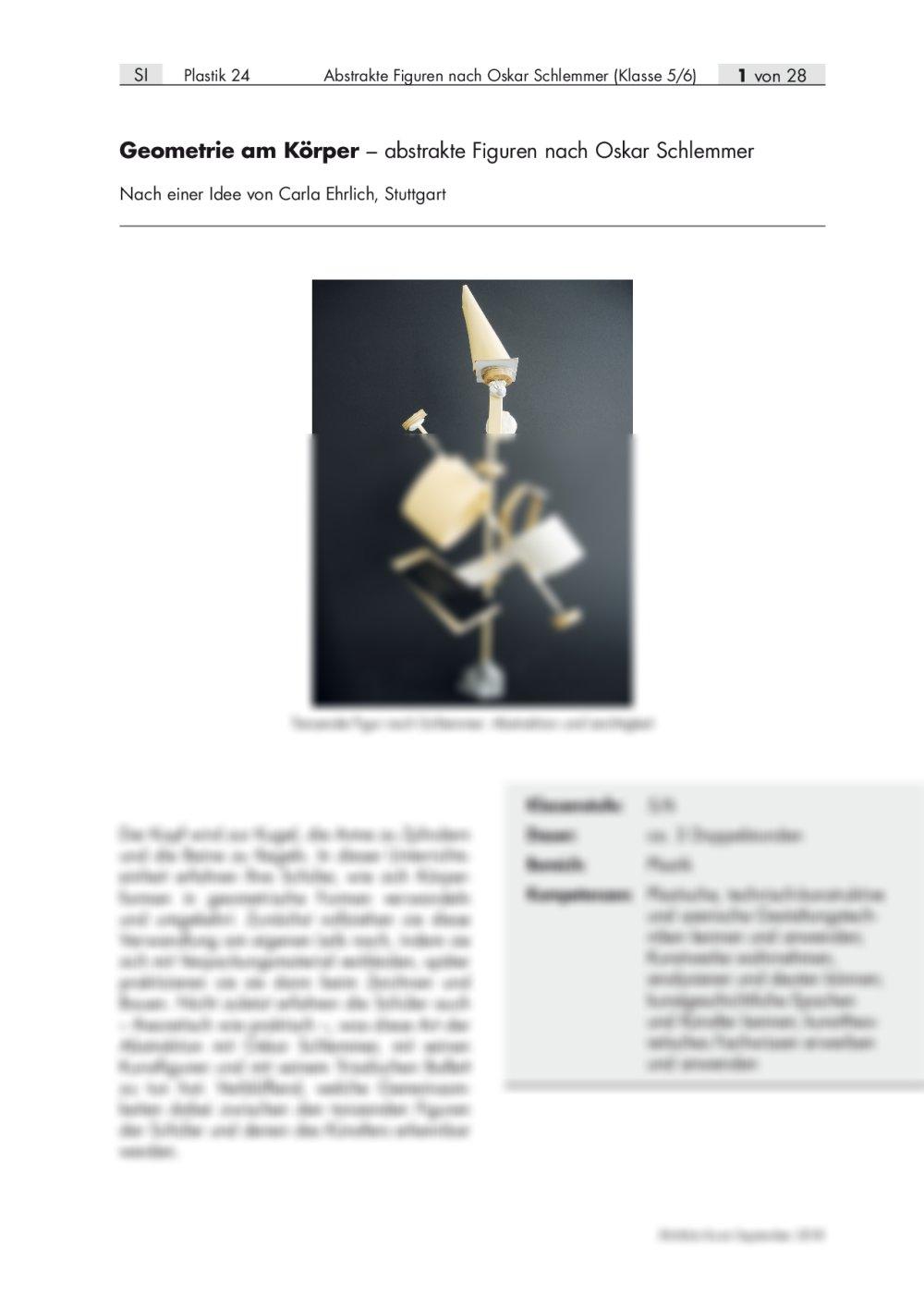 Abstrakte Figuren nach Oskar Schlemmer - Seite 1
