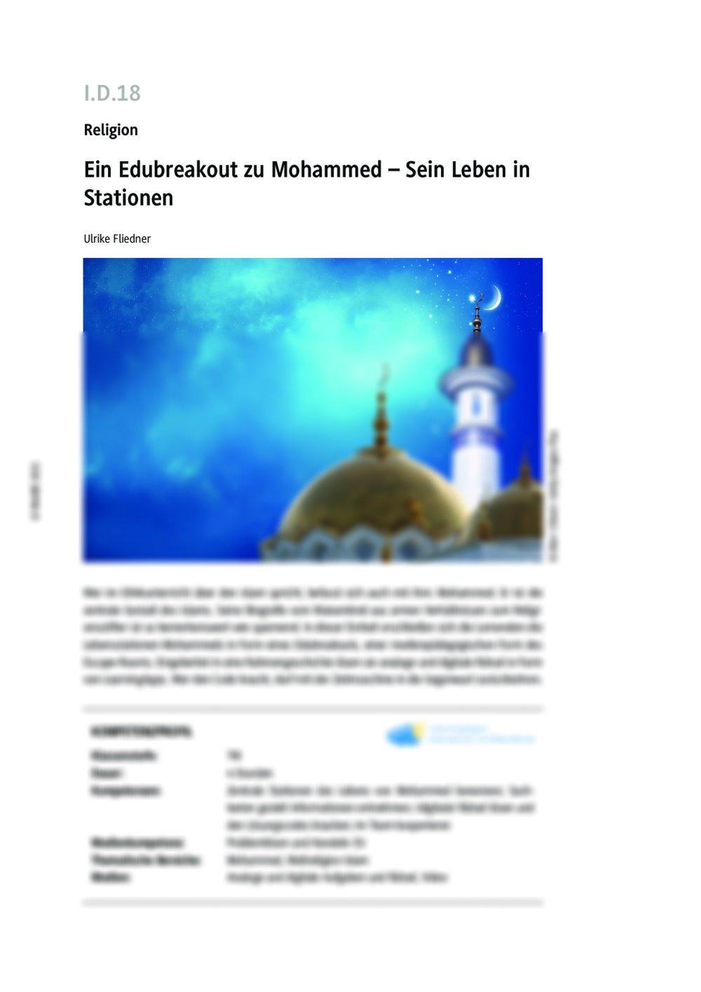 Ein Edubreakout zu Mohammed - Seite 1