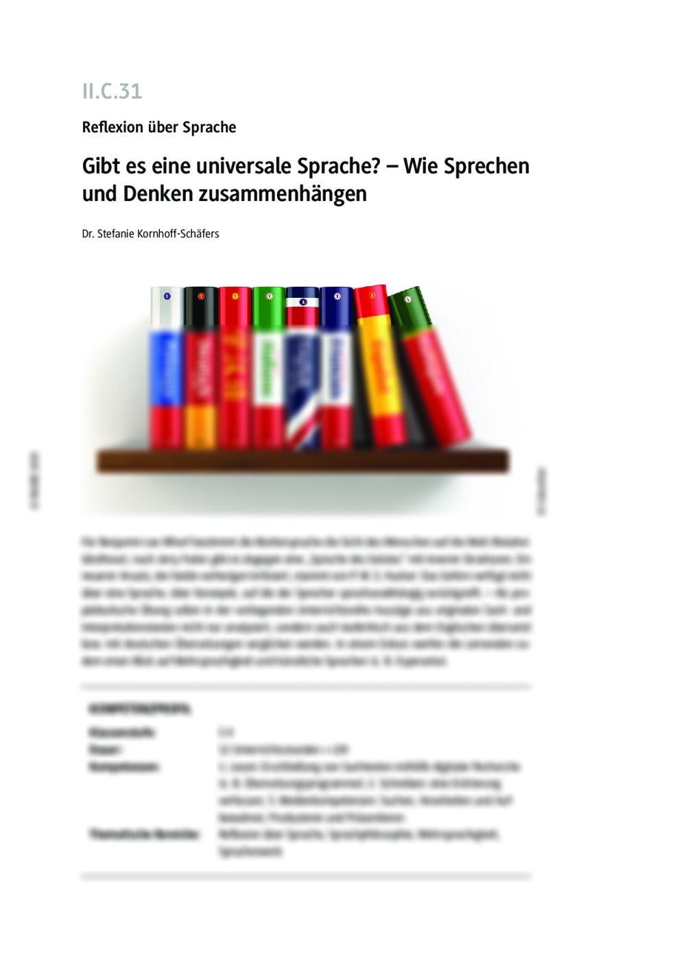 Gibt es eine universale Sprache? - Seite 1
