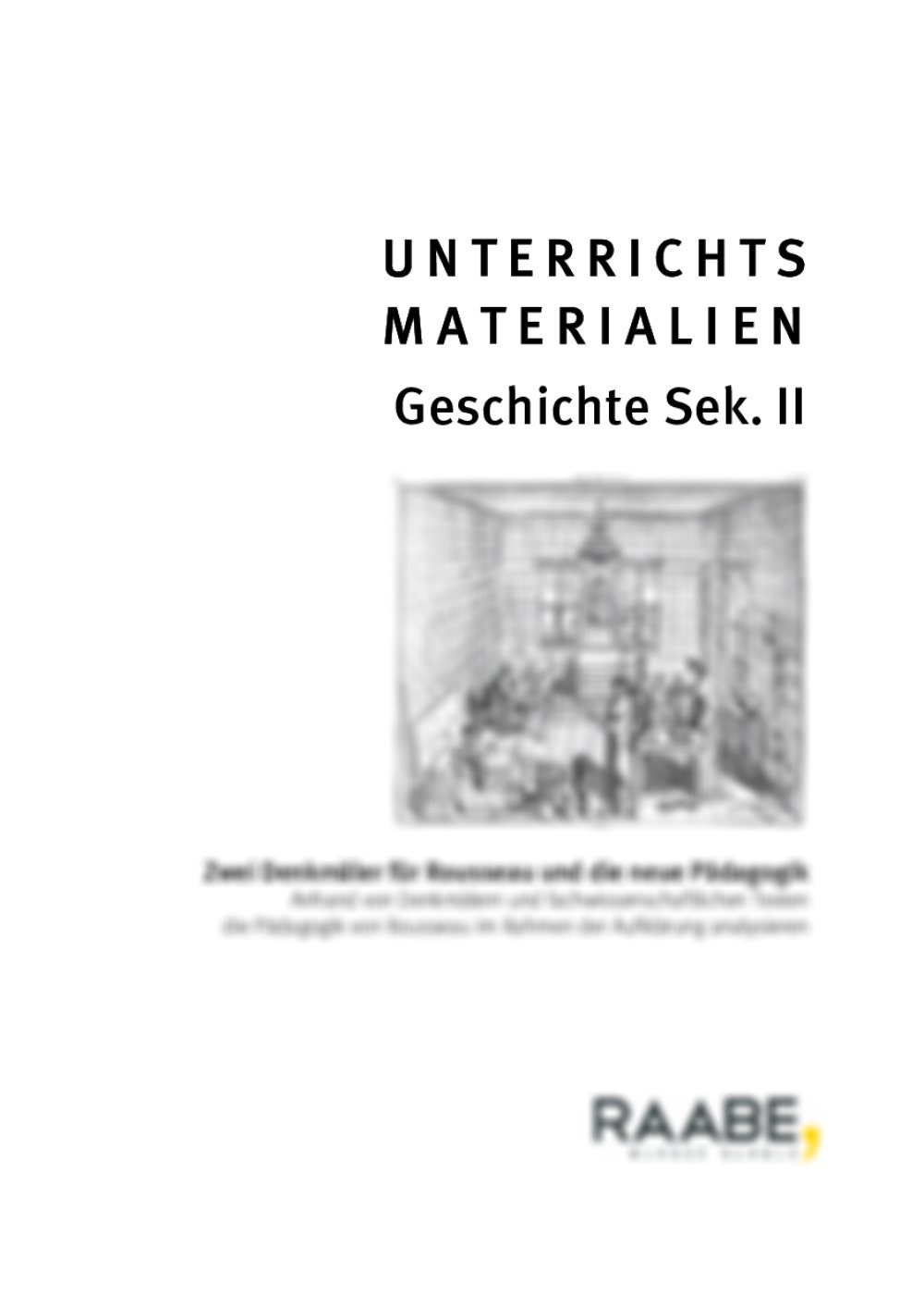 Rousseau und die neue Pädagogik - Seite 1