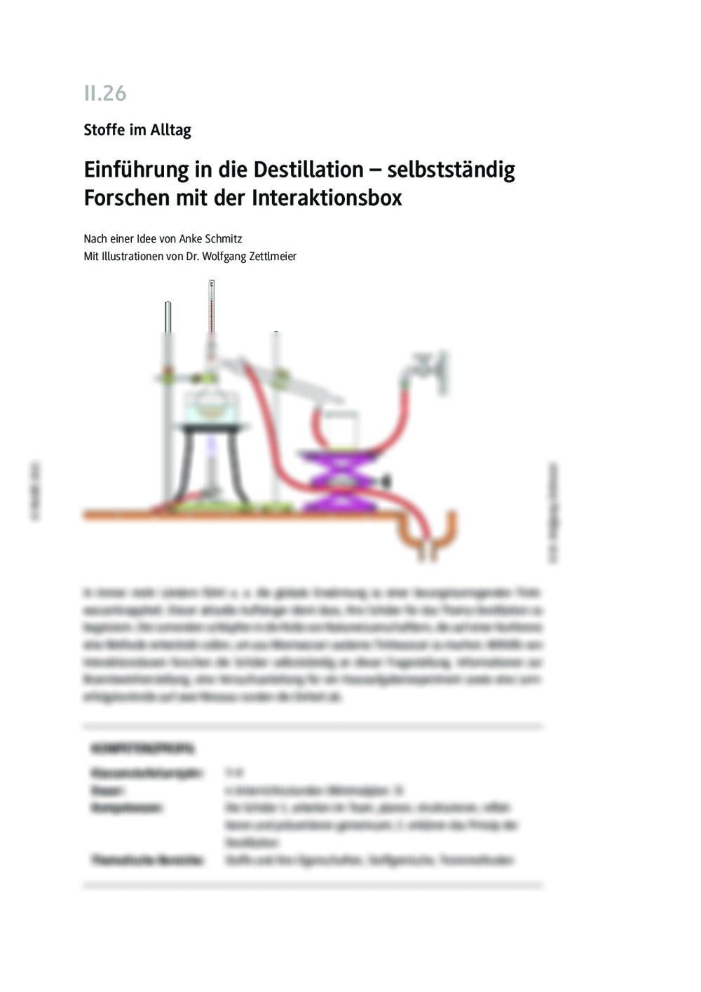 Einführung in die Destillation - Seite 1