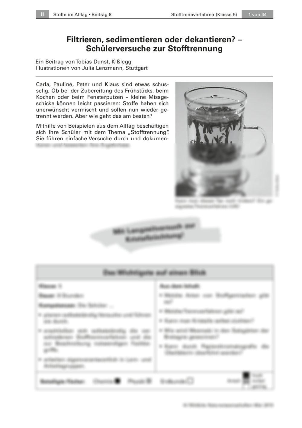 Stofftrennverfahren - Seite 1