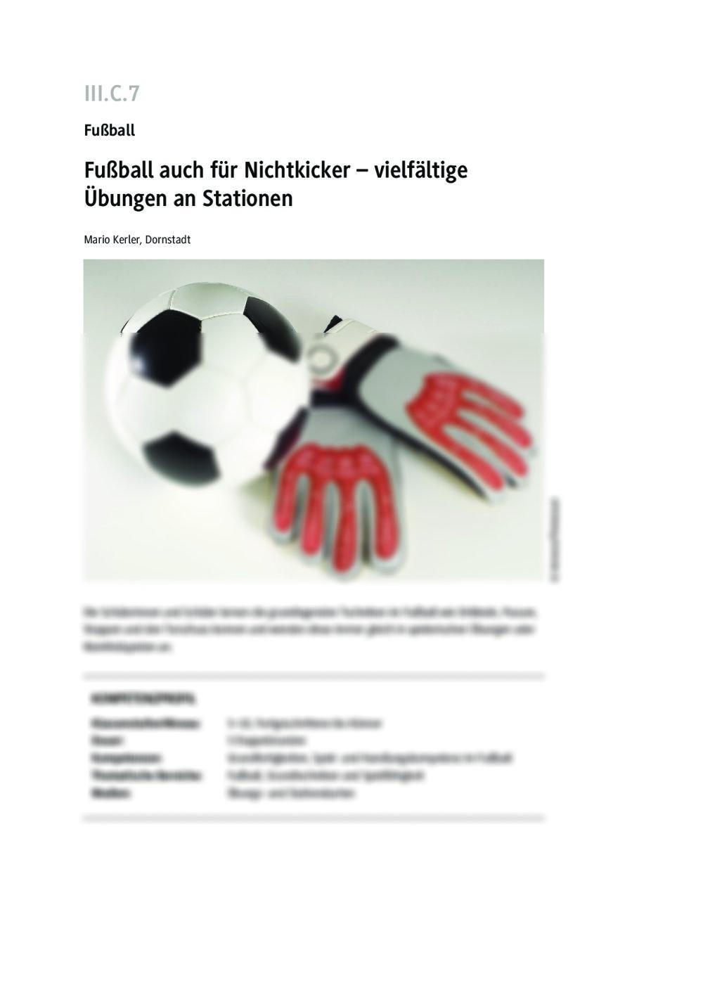 Fußball auch für Nichtkicker - Seite 1