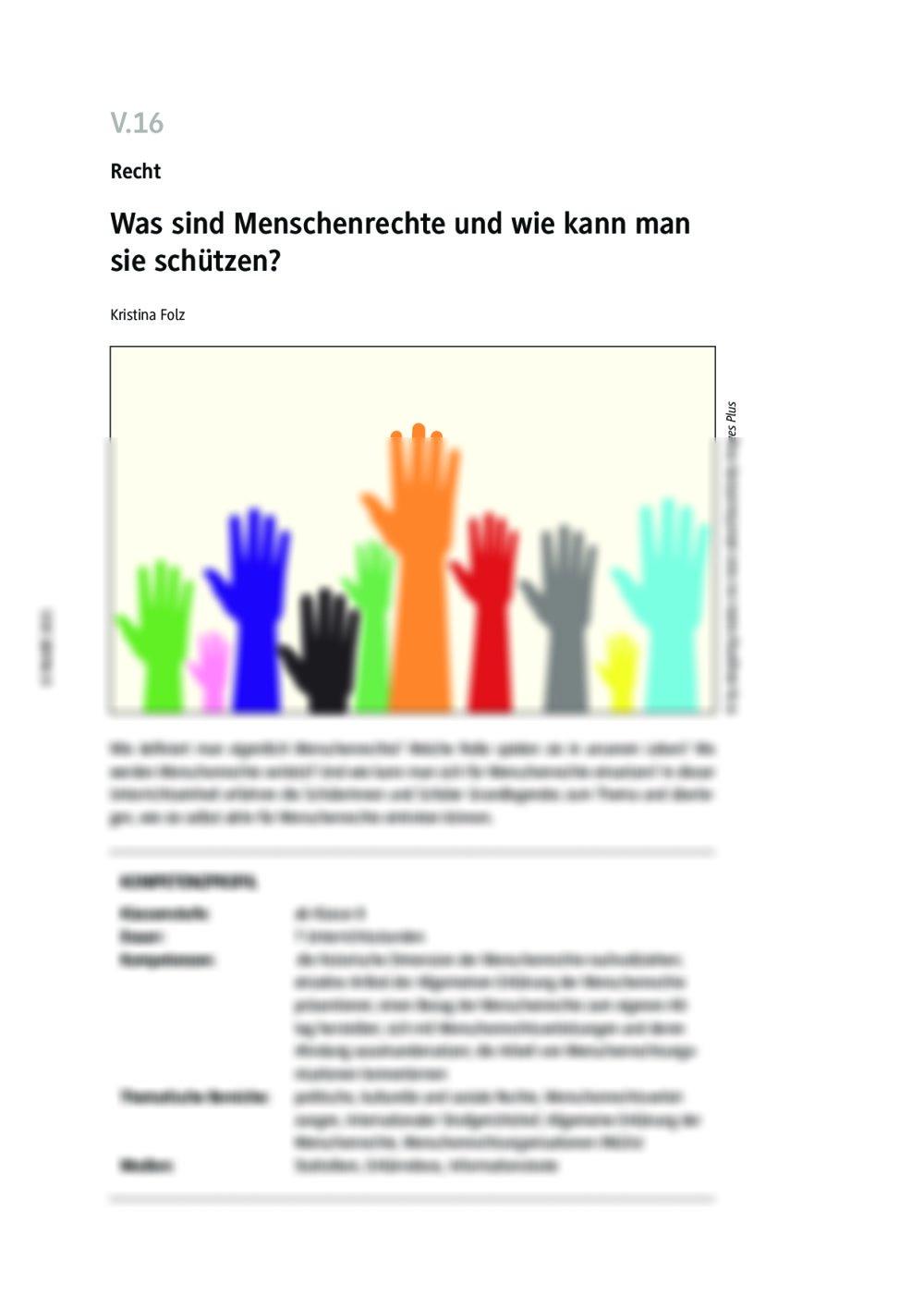Was sind Menschenrechte und wie kann man sie schützen? - Seite 1