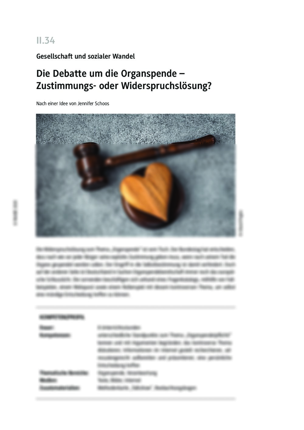 Die Debatte um die Organspende - Seite 1