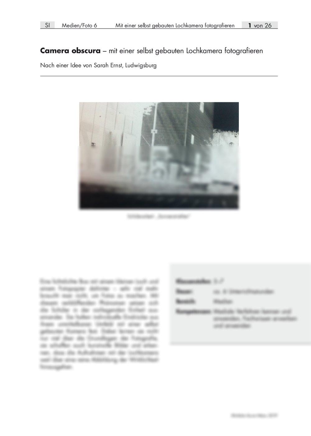 Mit selbst gebauter Lochkamera fotografieren   RAAbits Online