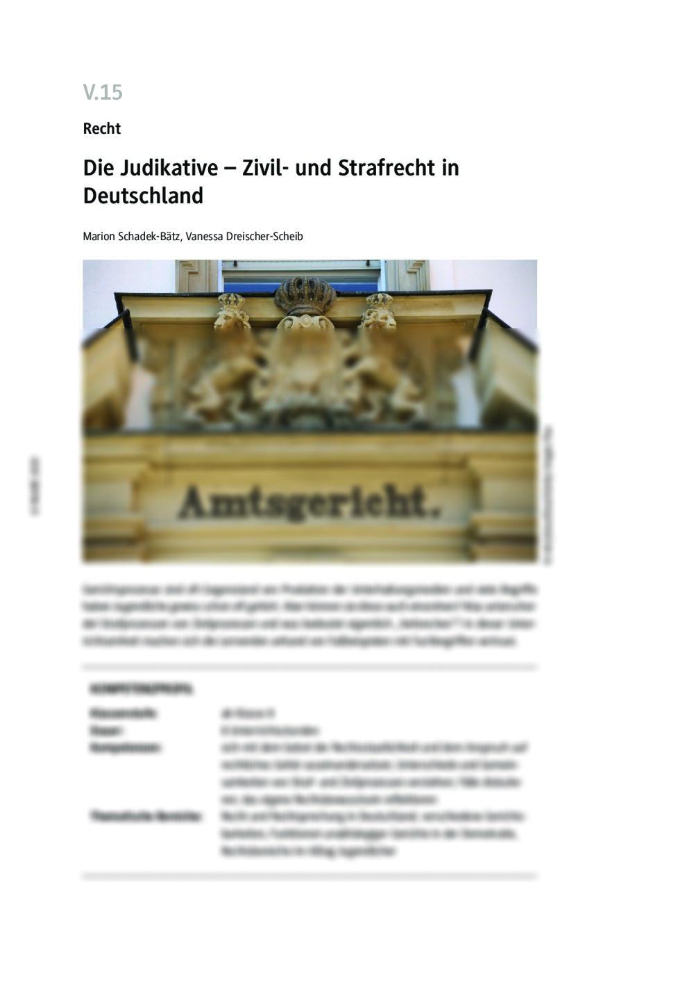 Die Judikative - Seite 1