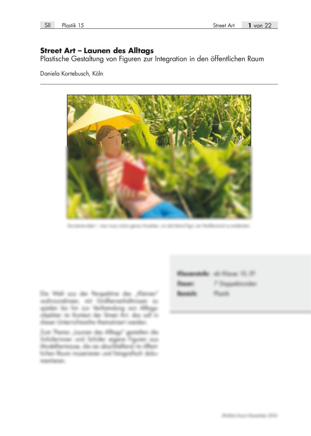 Plastische Gestaltung von Figuren zur Integration in den öffentlichen Raum - Seite 1