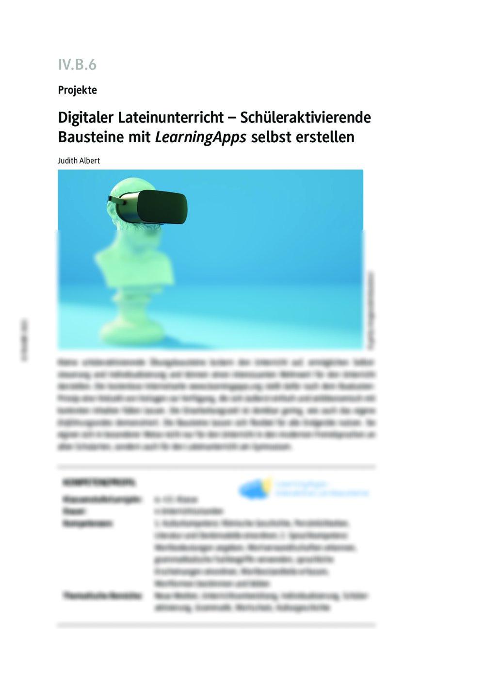 Digitaler Lateinunterricht mit LearningApps - Seite 1