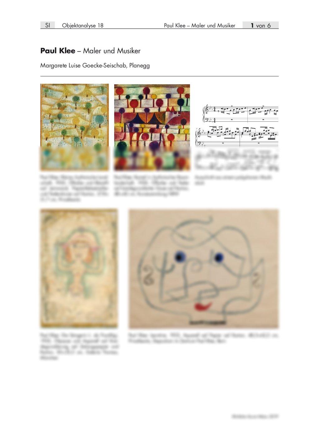 Paul Klee als Maler und Musiker - Seite 1