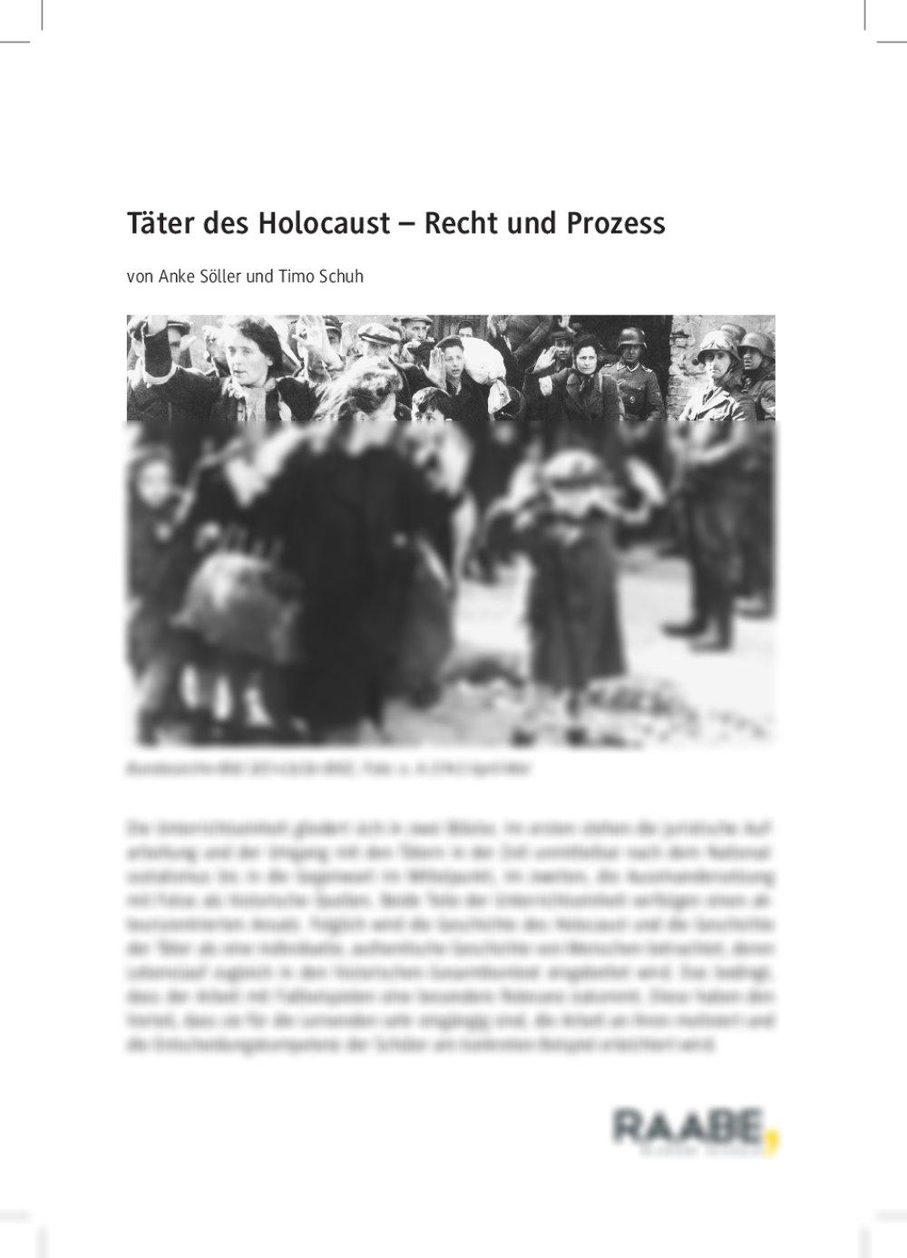 Täter des Holocaust – Recht und Prozess - Seite 1