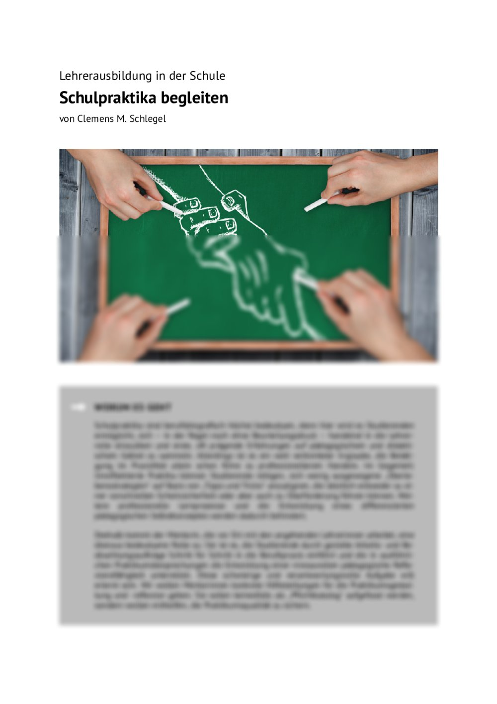 Schulpraktika begleiten - Seite 1