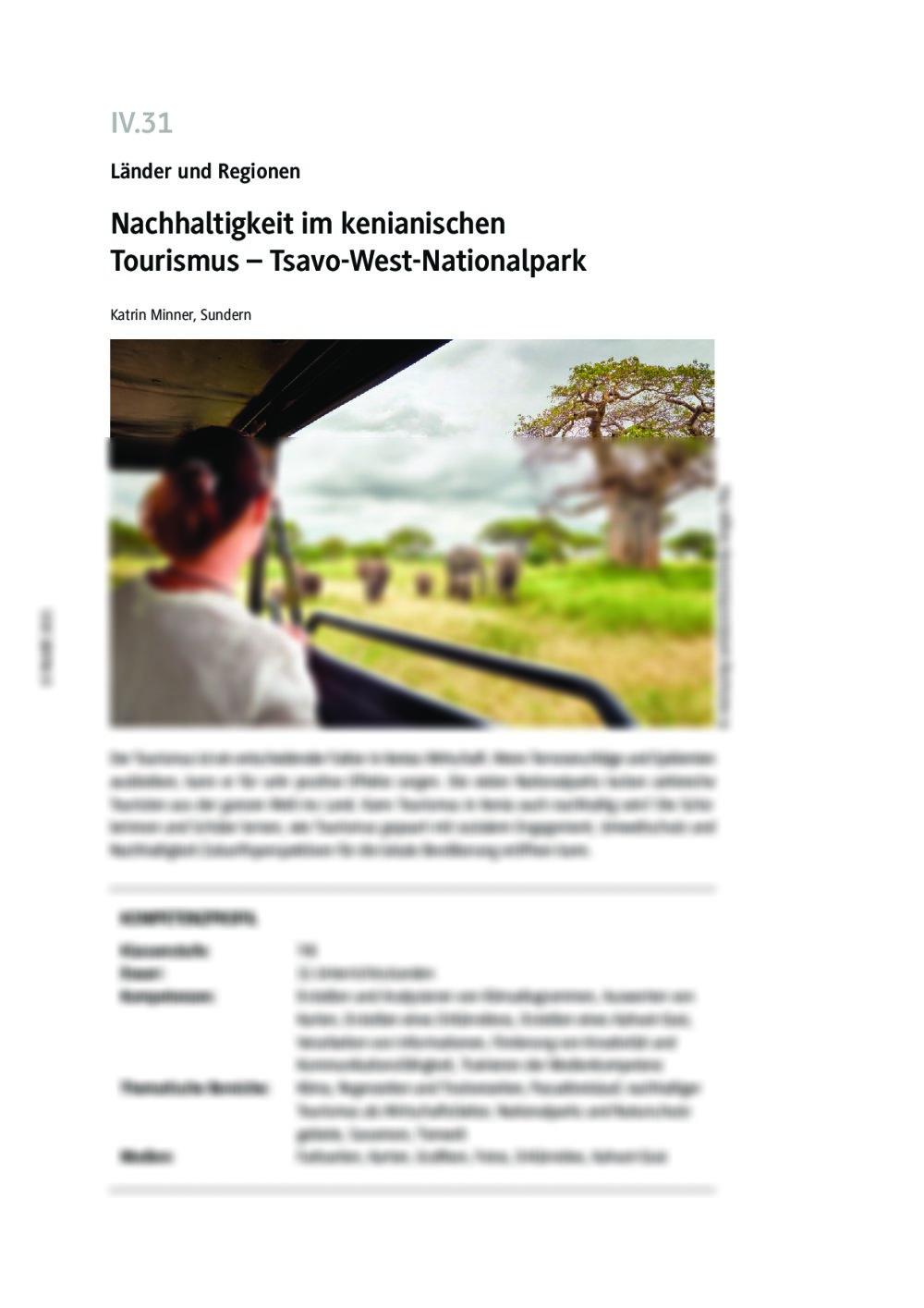 Nachhaltigkeit im kenianischen Tourismus - Seite 1