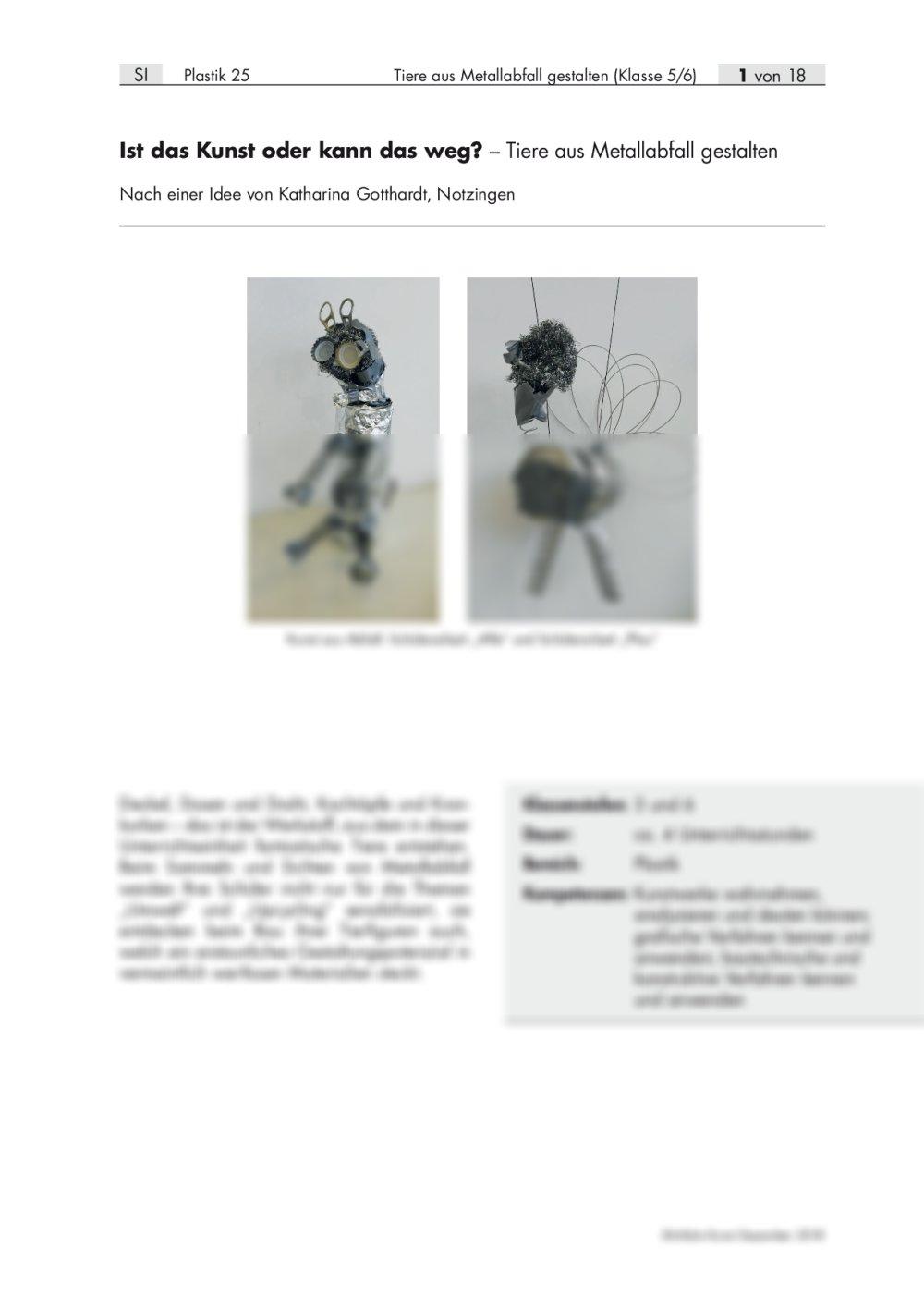 Tiere aus Metallabfall gestalten - Seite 1