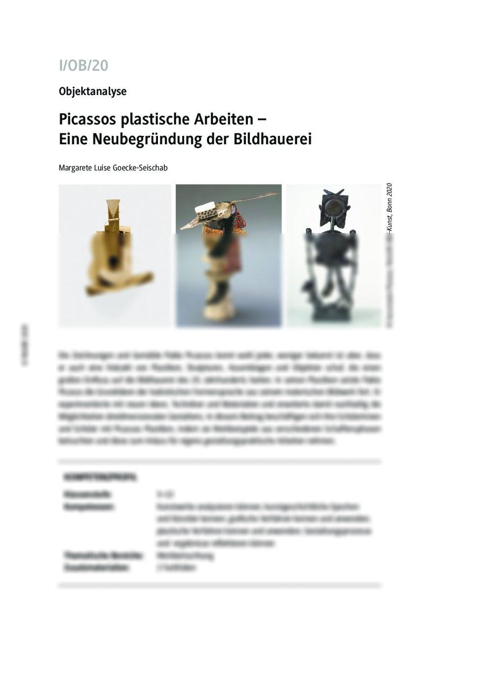 Eine Neubegründung der Bildhauerei - Seite 1