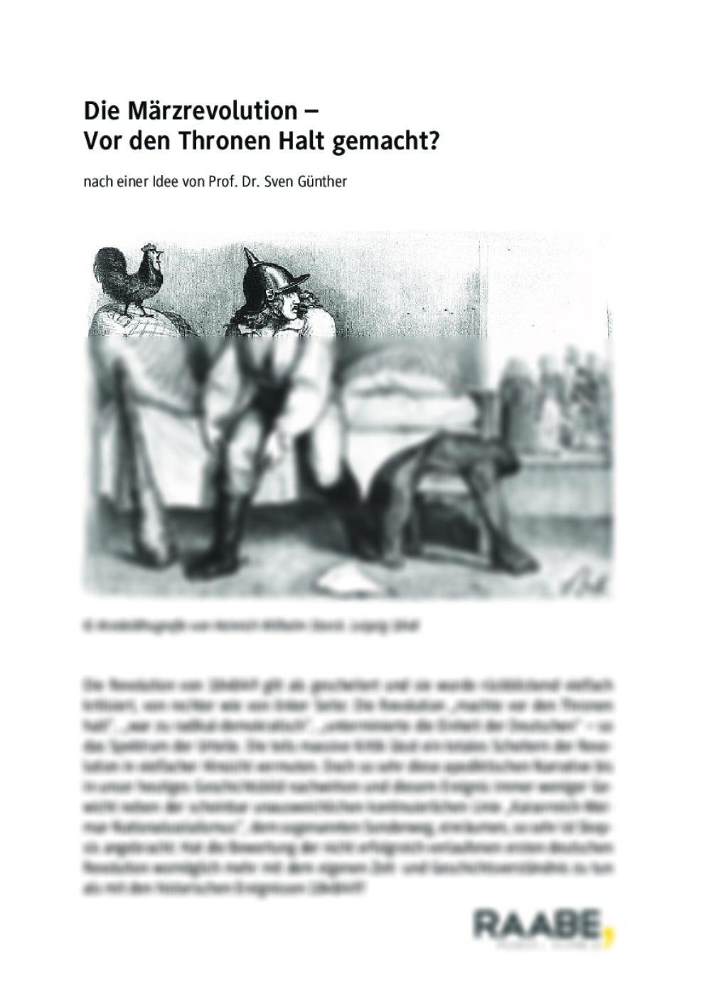 Die Märzrevolution - Seite 1