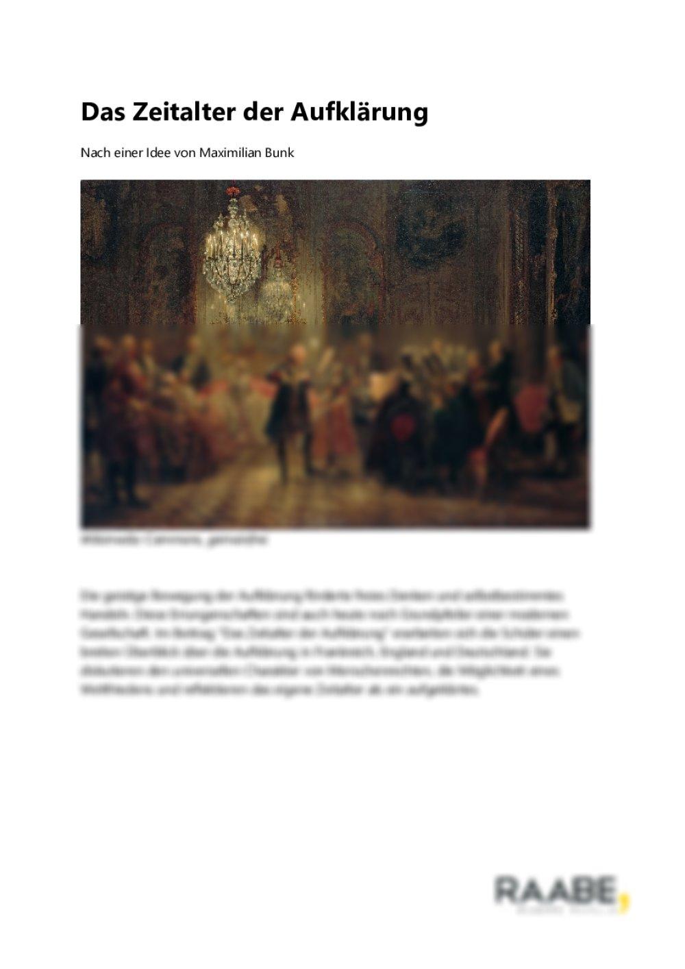 Das Zeitalter der Aufklärung - Seite 1