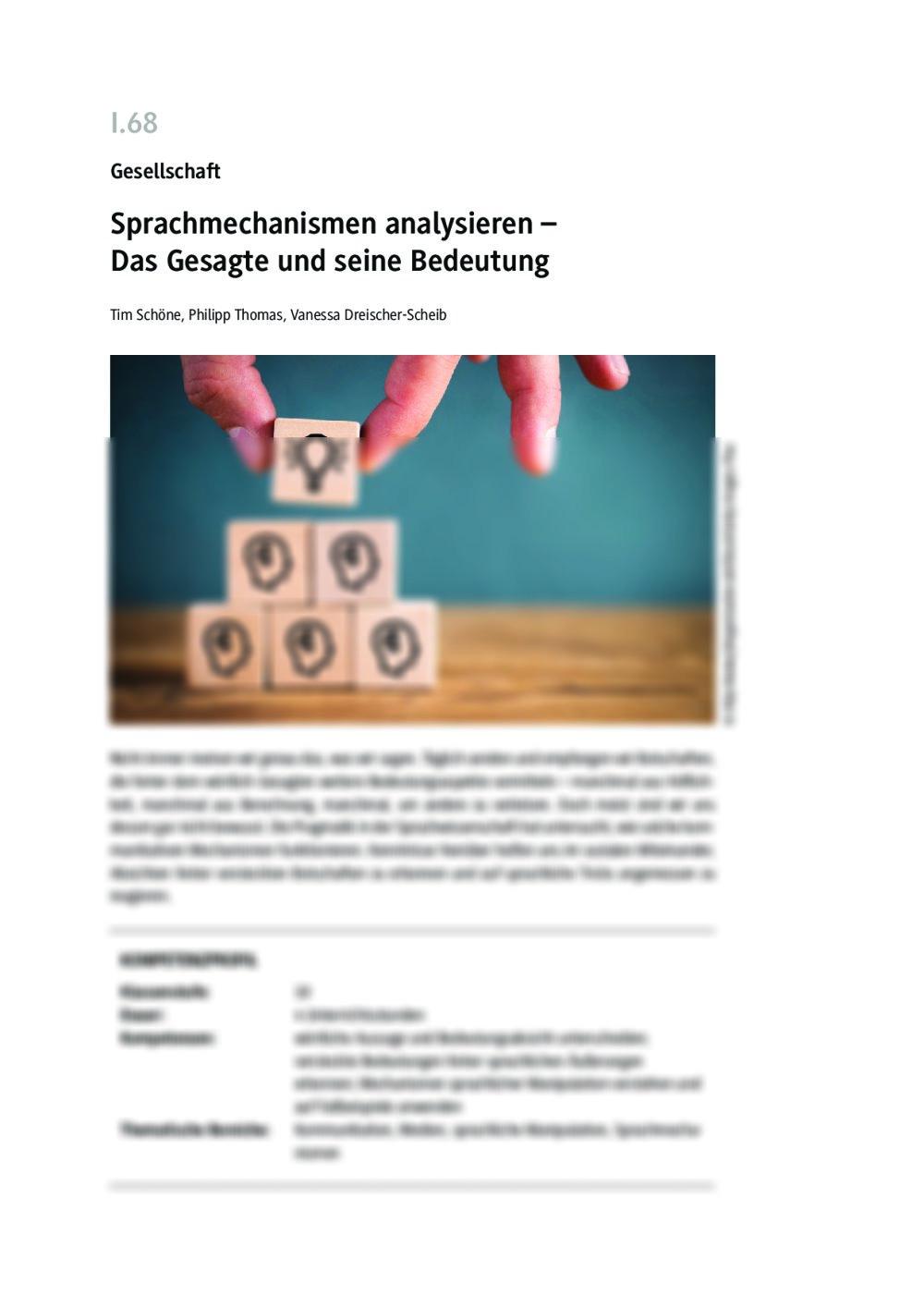Sprachmechanismen analysieren - Seite 1