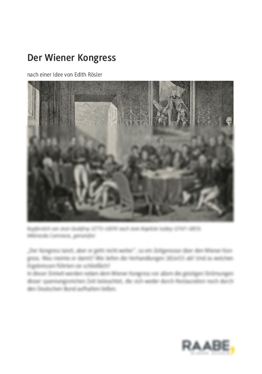Der Wiener Kongress - Seite 1