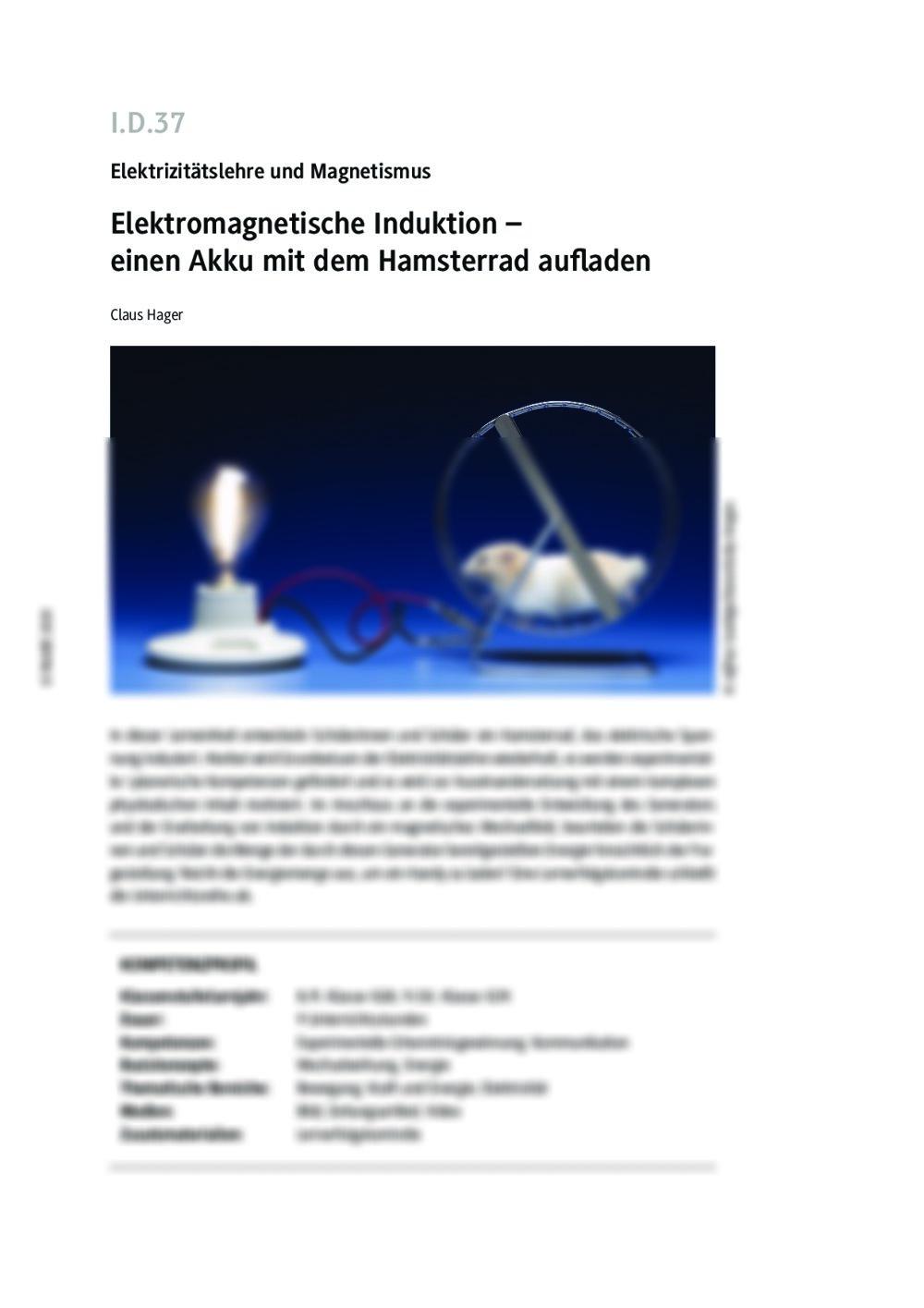 Elektromagnetische Induktion - Seite 1