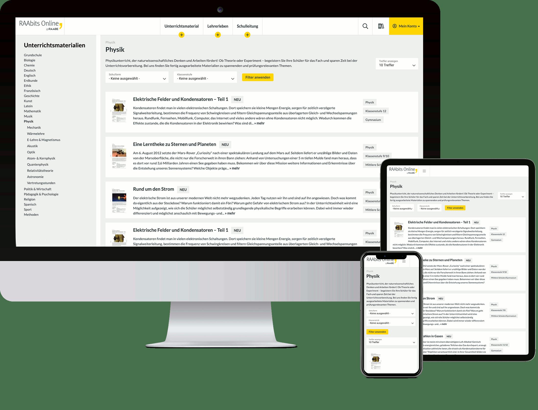RAAbits Online rund ums Lehrerleben