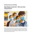 Keine Maske im Unterricht – führt zum Unterrichtsausschluss?