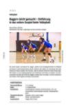 Einführung in das untere Zuspiel beim Volleyball