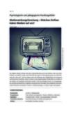 Medienwirkungsforschung