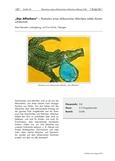 Illustration eines afrikanischen Märchens mittels Kartonschälschnitt