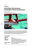 Vom Springen im Wasser zum Startsprung