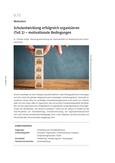 Schulentwicklung erfolgreich organisieren (Teil 1) – motivationale Bedingungen