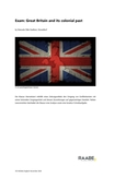 Exam: Great Britain and its colonial past
