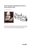 Exam: The impact of Shakespearean drama on young audiences today