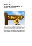 Wie Sie ein Sabbatjahr nehmen und organisieren können!