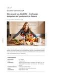Ernährungskompetenz im Sportunterricht fördern