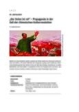Propaganda für die chinesische Kulturrevolution