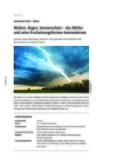 Das Wetter und seine Erscheinungsformen kennenlernen