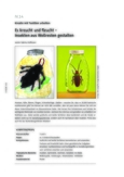 Insekten aus Wollresten gestalten