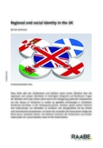 Regional and social identity in the UK