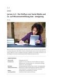 Lernen durch Social Media?
