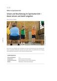 Scham und Beschämung im Sportunterricht
