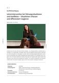 Interventionsmöglichkeiten bei Störungen des Unterrichts