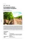 Der Säuregehalt von Weinen unterschiedlicher Anbaugebiete