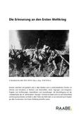 Die Erinnerung an den Ersten Weltkrieg