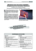 Energieumsatz bei chemischen Reaktionen