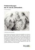 Friedensordnungen des 19. und 20. Jahrhundert