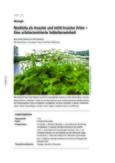 Neobiota als invasive und nicht-invasive Arten